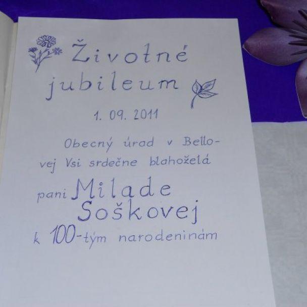 Oslava - Jubileum 100rokov